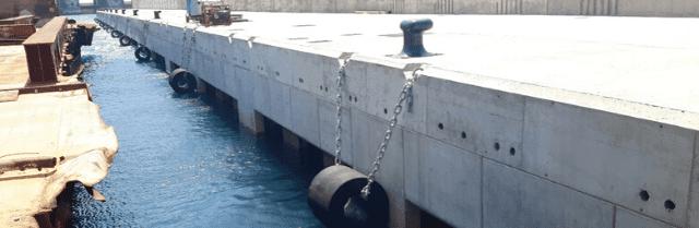 Habilitación del contradique del puerto de Granadilla