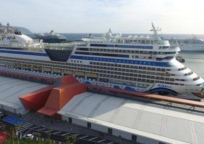 Crucero Aida en el Puerto de Santa Cruz