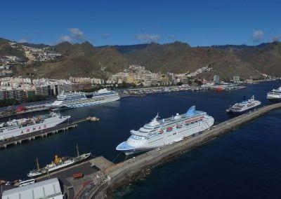 Curceros en el Puerto de Tenerife