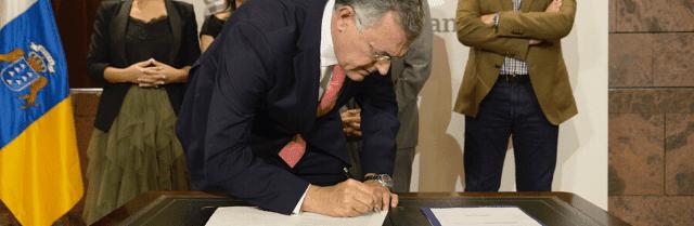 El presidente de Canarias anuncia que las obras del litoral de Valleseco se iniciarán antes de final de año
