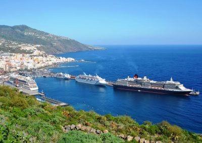 Puerto de La Palma con Cruceros