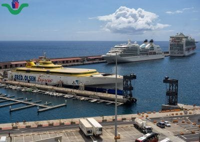 Puerto de La Palma con Fred Olsen