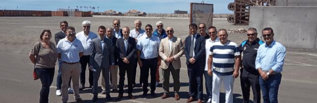 Visita del CEST al puerto de Granadilla, interesado por su operatividad
