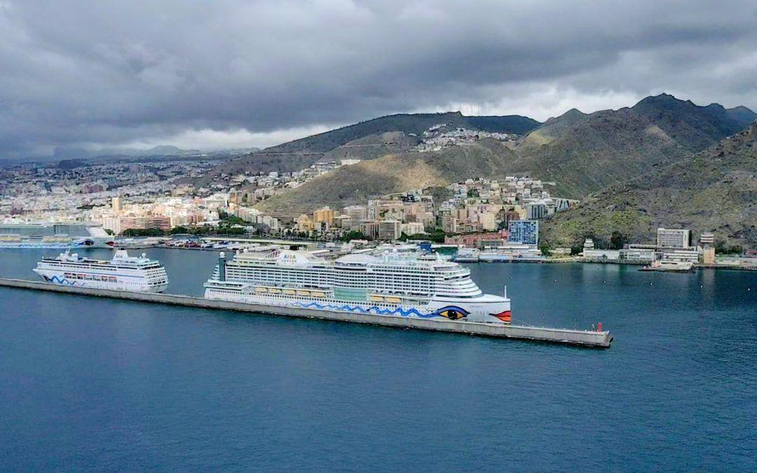 El puerto de Tenerife, elegido para una operativa más de trasbordo de tripulantes de Aida Cruises