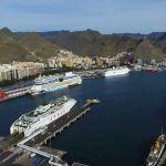 Puerto de Santa Cruz con vista aerea