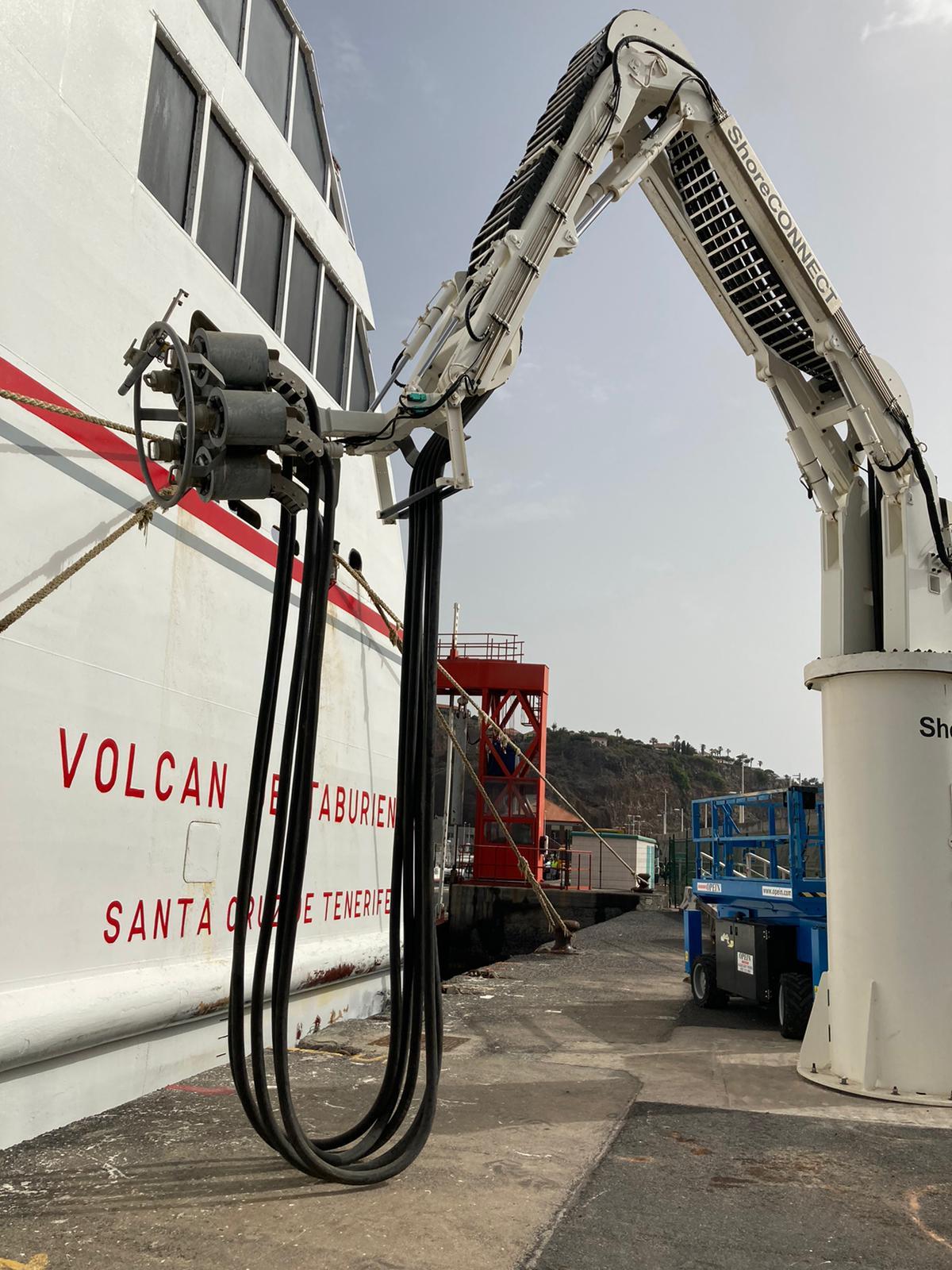 Conexión eléctrica a buques en La Gomera