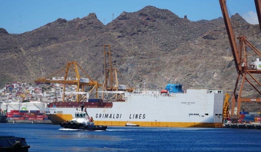 El Puerto de Tenerife revalida su papel como enlace entre Sudamérica, África y Europa con los circuitos de Grimaldi