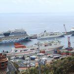 puerto de La Palma con dos cruceros