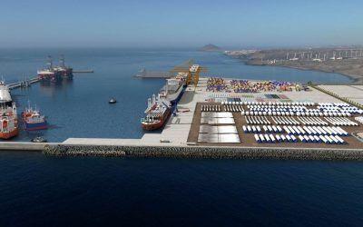El puerto de Granadilla cerrará el año con obras en ejecución valoradas en 18,5 millones de euros
