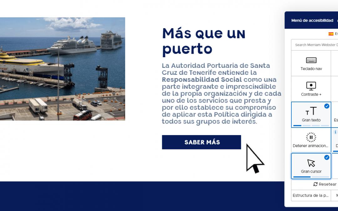 Puertos de Tenerife, pionero en tecnología inclusiva