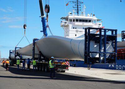 Descarga generadores eólicos puerto de Granadilla
