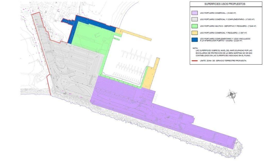 La nueva ordenación de espacios del puerto de Los Cristianos permitirá ceder 2.400 metros cuadrados a la ciudad