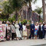 Foto de grupo BPW en el puerto de Santa Cruz de Tenerife