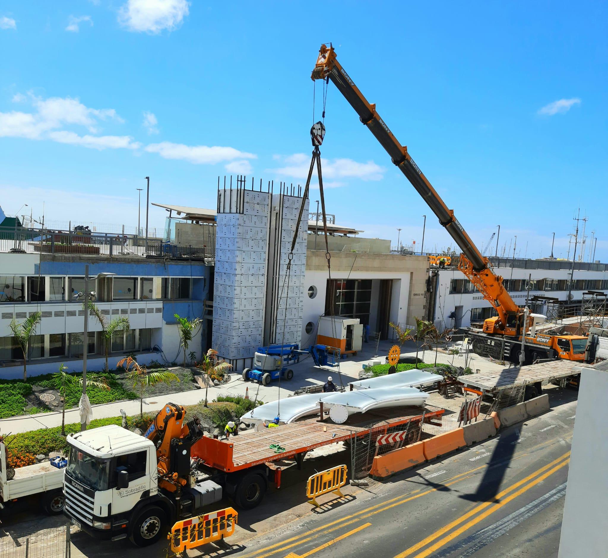 Recreación de la pasarela del Edificio Puerto Ciudad