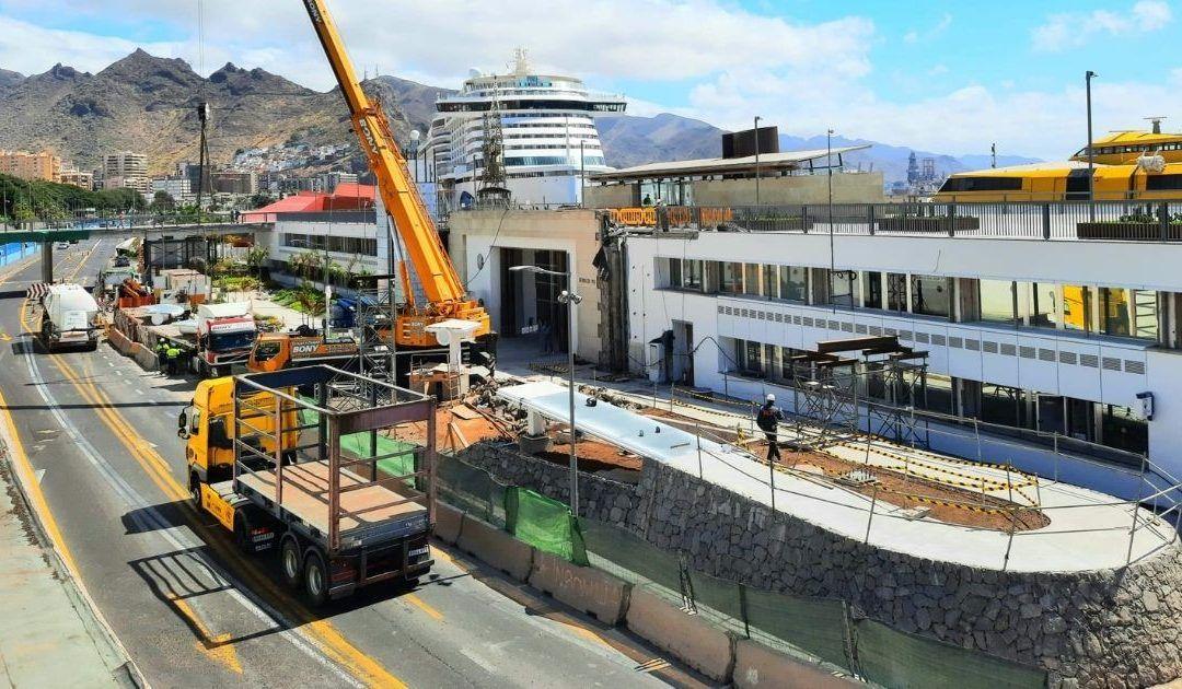 Puertos de Tenerife inicia el montaje de la pasarela del edificio puerto-ciudad