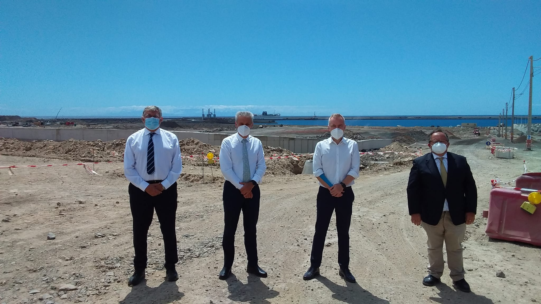 Visita del Presidente Puertos del Estado a Tenerife, foto de grupo